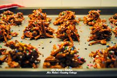 Haystack candy with shoestring potatoes recipes