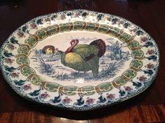 Beautiful 19th Century, Bishop and Stonier Turkey Platter