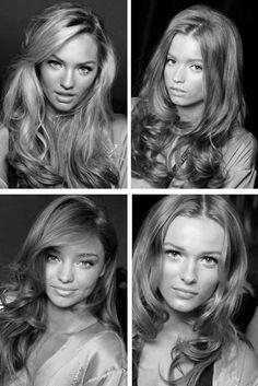 hair, model, black and white