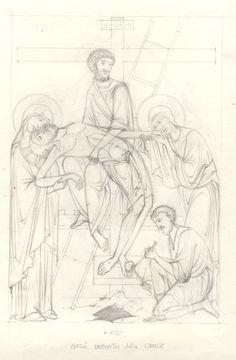 Via Crucis - loscriptorium san sisto - Picasa Albums Web Byzantine Icons, Byzantine Art, Line Drawing, Drawing Sketches, Drawings, Religious Icons, Religious Art, La Passion Du Christ, Writing Icon