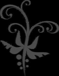 Gray Swirl Clip Art