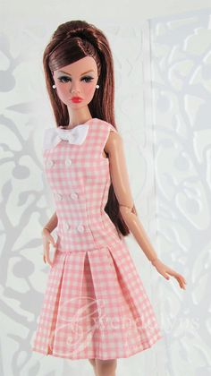 SPRING PLEATS in PINK Fashion for Poppy and by GwendolynsTreasures
