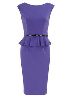Ponte Peplum dress from Dorothy Perkins