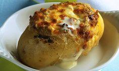 › MdeMulher › Culinária › Receitas Batata assada recheada com carne moída
