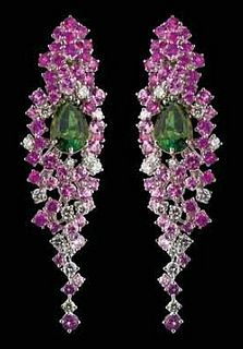 par de pendientes de Chopard, de la Red Carpet Collection,