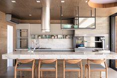 CASA AE - ESPAÇO GOURMET Patio Kitchen, Home Decor Kitchen, Kitchen Interior, Kitchen Design, Sweet Home, Model House Plan, Adobe House, Open Concept Kitchen, Dream House Exterior