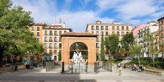 Quartier Malasana. Plaza Dos de Mayo. Bars, café, alternatif...