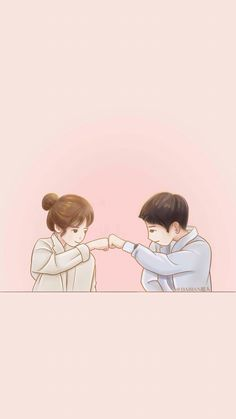 39 best cute couple wallpaper images in 2019 Love Cartoon Couple, Cute Love Cartoons, Anime Love Couple, Cute Anime Couples, Cute Couple Drawings, Cute Couple Art, Cute Drawings, Songsong Couple, Wallpaper Casais