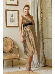 Brown Maternity Bridesmaid Dress