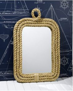 DIY--->Rope Mirror. Until We Renovate Our Bathroom...I'm Doing This To Our Gross Sink Mirror.