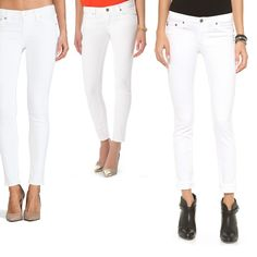 Rank & Style | Top Ten Fashion and Beauty Lists - White Skinny Jeans #rankandstyle