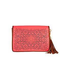 Neon pink laser cut clutch £28 - just added to my basket at River Island!