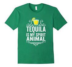 Men's Tequila Is My Spirit Animal T-Shirt - Funny Drinkin…