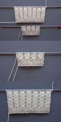 Patrón De Tejido De Orejas De Trigo Para Mujeres Y Trenzas Para Bebés - Anlatımlı Örgüler - Webcrochet.Com Knittingpattern - Diy Crafts Knitting Stiches, Sweater Knitting Patterns, Lace Knitting, Knitting Designs, Knit Patterns, Diy Crafts Knitting, Diy Crochet, House Games, Instagram Christmas