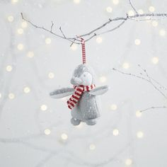 Buy Knitted Snowy Penguin Decoration - from The White Company Silver Christmas, Christmas Mood, Christmas And New Year, All Things Christmas, Kids Christmas, Holiday, Christmas 2016, Penguin Christmas Decorations, Xmas Tree Decorations