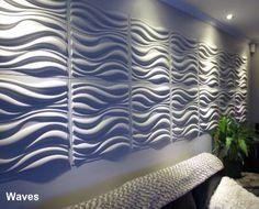 3D Wall Panels-waves design. Wall decor by WallArt. Bring your walls to life!