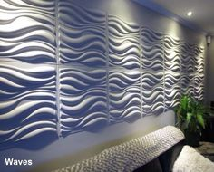 3D Wall Panels-waves design. Wall decor by WallArt. Bring your walls to life!