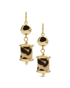 Chico's Women's Carson Animal-Print Drop Earrings
