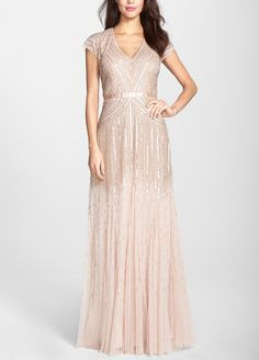 Sparkly gown with sequins that dance when you move.