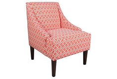 Quinn Swoop-Arm Chair, Mango on OneKingsLane.com
