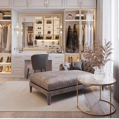 Home Decor – Decor Ideas – decor Wardrobe Design Bedroom, Luxury Bedroom Design, Home Room Design, Modern Bedroom, Bedroom Decor, House Design, Interior Design, Dressing Room Decor, Dressing Room Closet