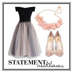 """""""Chic Gold and Pink"""" by jennifer-lynne-stratton ❤ liked on Polyvore featuring Chicwish, Semilla and statementnecklaces"""