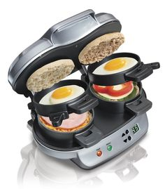 Breakfast Sandwich Maker by Hamilton Beach .....What i need to show harry this**