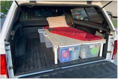 Sleeping Platform Truck Bed | Etsy Truck Cap Camping, Camping Set Up, Truck Camping, Truck Topper Camping, Camping Ideas, Pickup Camping, Camping Hacks, Tent Camping Beds, Minivan Camping