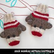 Sock Monkey Mittens - via @Craftsy
