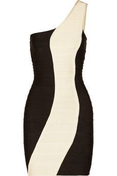 Hervé Léger One-shoulder bandage dress