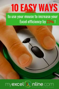 Top 10 Excel Double Click Mouse Tricks that will increase your efficiency! | Learn Microsoft Excel Tips + Free Excel Tutorials & Cheat Sheets |  The Most In-Depth Excel Video Courses Online at http://myexcelonline.thinkific.com/