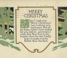 Winter Woods At Night Antique Art Deco Christmas Postcard