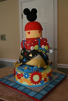 21st birthday Mickey Cake!