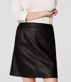Thumbnail Image of Color Swatch 6600 Image of Faux Leather Shift Skirt