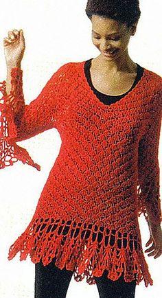 Rah-Boon-Dee-Ay pattern by Doris Chan. Crochet jumper. 10 ply soy silk 300m/100g x 7-9. 5mm & 5.5mm hook. Everyday Crochet book by Doris Chan. Crochet Jumpers, Crochet Books, Pattern Library, Summer Patterns, Crochet Patterns, Silk, Crochet Pattern, Crochet Tutorials, Silk Sarees