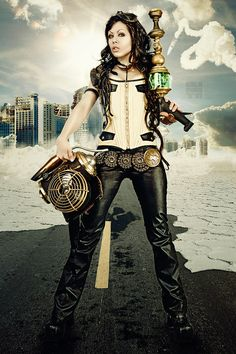 I had no idea there was such a thing as post-apocalyptic neo-steampunk but I like it!