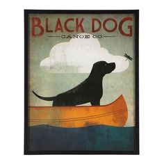 Black Dog Print 58x73cm | Freedom Furniture and Homewares