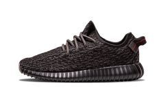"""Originally dropping in 2015, this is the February 2016 re-release of the coveted """"Pirate Black"""" colorway of the adidas #YEEZY Boost 350."""