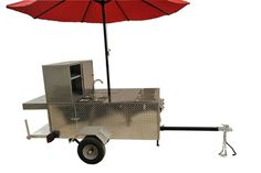 The Big One is large & spacious, allowing you to stock less & sell more. Made of stainless steel & diamond plate making it tough, durable, & eye-catching. Big Hot Dog, Hot Dogs, Hot Dog Cart, Plate, Stainless Steel, Eye, Diamond, Dishes, Plates