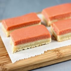 rhubarb-vanilla bean shortbread bars