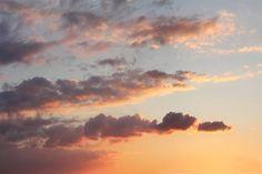 Sunset Clouds Wallpaper Mural