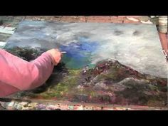 Abstract painting Mountain No. 12 (time lapse)