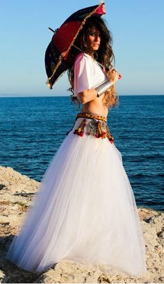 Boho beach with a full tutu skirt Gypsy Style, Hippie Style, Bohemian Style, Boho Chic, Hippie Bohemian, Boho Gypsy, Hippie Chic, My Big Fat Gypsy Wedding, Boho Wedding