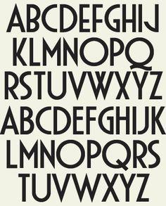 Art Deco Font Style