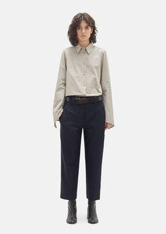 Trea Pinstripe Wool Trouser #acneclothing