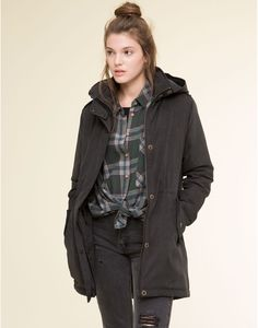 FLOWING PARKA WITH HOOD - NEW PRODUCTS - NEW PRODUCTS - PULL&BEAR Greece