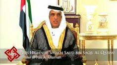 Sheikh saud bin saqr al qasimi being interviewed.