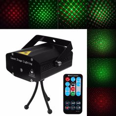 Mini Led Projector DJ Disco Light With Remote Controller Red And Green Stage Lights Xmas Party Wedding Club Show Laser Lighting