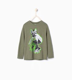 ZARA - PROMOCIJA - Skater dog T-shirt