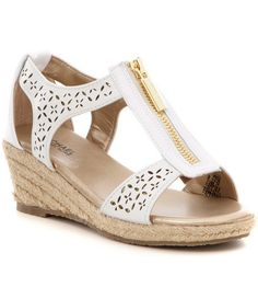 989fb48efa7 MICHAEL Michael Kors Girls´ Cate Lali Espadrille Wedge Sandals